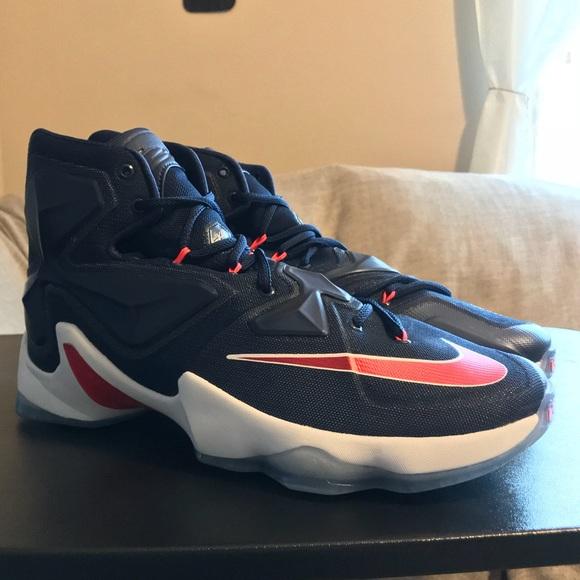 big sale e4be5 0a4ea NEW Nike LeBron James 13 XIII USA Olympic Navy